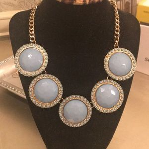 Chunky blue and gold necklace
